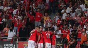 El Benfica, líder por diferencia de goles. SLBenfica