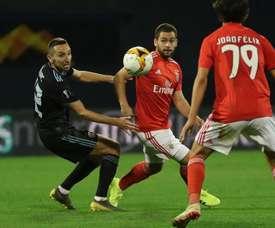 Benfica perde para o Dinamo Zagreb. Twitter @SLBenfica