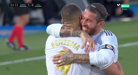 Benzema rapproche le Real du titre contre Villarreal. Capture/Movistar+