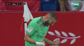 Benzema sauve Madrid. Capture/MovistarLaLiga