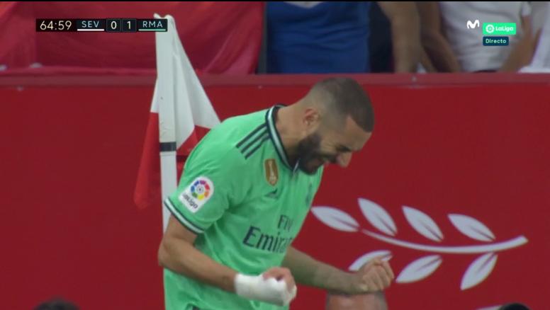 Benzema salió al rescate del Madrid. Captura/MovistaLaLiga