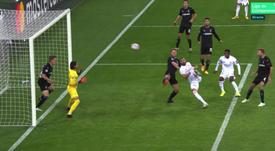 Real Madrid got a 2-2 draw at Monchengladbach. Screenshot/MovistarLigadeCampeones