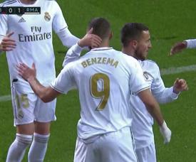 Benzema e Ramos fizeram o Real decolar em 16 minutos. Captura/Movistar+LigadeCampeones