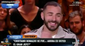 Benzema confessou que assumiu as rédeas do ataque depois da saída de CR7. Captura/TMC