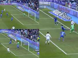 Benzema dribbled past the defender near the byline. Captura/LaLiga