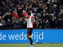 Berghuis a mis un 'hat trick'. Twitter/Feyenoord
