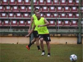 Bernaldo Manzano, durante un entrenamiento con Deportivo Lara. DeportivoLara