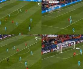 Gonçalo Guedes colocou Portugal na frente. Captura/Univision