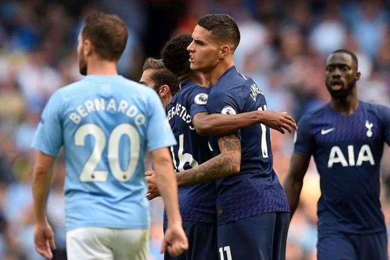 Tottenham - City: onzes iniciais confirmados. Twitter/SpursOfficial