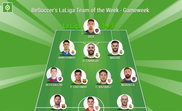BeSoccer's LaLiga Team of the Week for Gameweek 1 of the 2018/19 season. BeSoccer