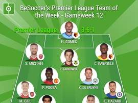 BeSoccer's Premier League Team of the Week for GW12. BeSoccer