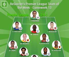 BeSoccer's Premier League Team of the Week for GW13. BeSoccer