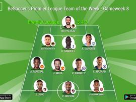 BeSoccer's Premier League Team of the Week Gameweek 8. BeSoccer
