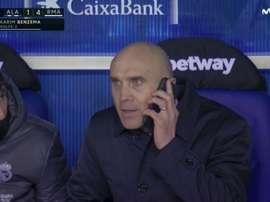 Mientras el Madrid ganaba 1-4... ¿Bettoni habló con Zidane? Captura/MovistarLaLiga