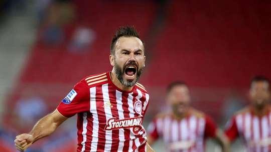 Bibras Natcho rejoint le Partizan Belgrade. Twitter/Olympiacos