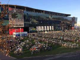 Así lucía el Ghelamco Arena de Gante. Twitter/Voetbal