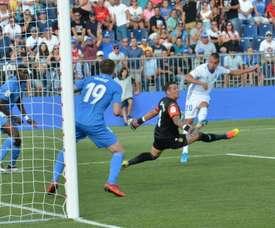 El Oviedo no ha conseguido una victoria en esta Liga. Twitter/CFuenlabradaSAD
