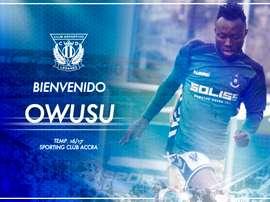 Owusu ha firmado por cinco campañas. Leganés