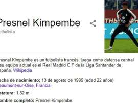 Kimpembe au Real Madrid ?? Capture/Wikipedia