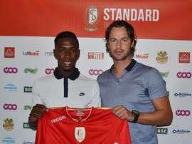Birama Touré, nuevo jugador del Standard. StandardRSCL