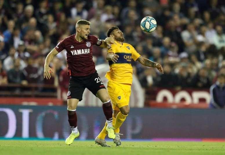 Boca cayó en el Ciudad de Lanús por 2-1. Twitter/BocaJrsOficial