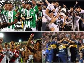 Boca Juniors, River Plate, Atlético Nacional e Olimpia. BeSoccer
