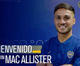 Mac Allister es nuevo jugador de Boca Juniors. Twitter/BocaJuniors