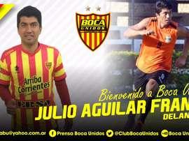 Julio Aguilar Franco ya tiene nuevo equipo. ClubBocaUnidos