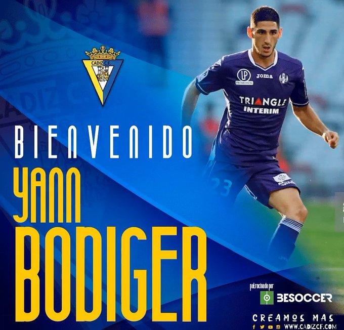 El Cádiz anuncia el fichaje de Bodiger. CadizCF