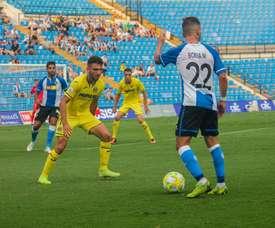 El Hércules cayó 1-2 en la visita del Villarreal B. Twitter/cfhercules