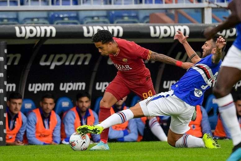 Sampdoria y Roma se anularon. Twitter/ASRomaEspanol