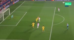Boril drew Slavia Prague level against Barcelona. Captura/MovistarLigadeCampeones