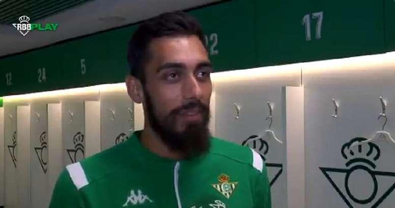 Borja Iglesias, content du dénouement final. Capture/RealBetis
