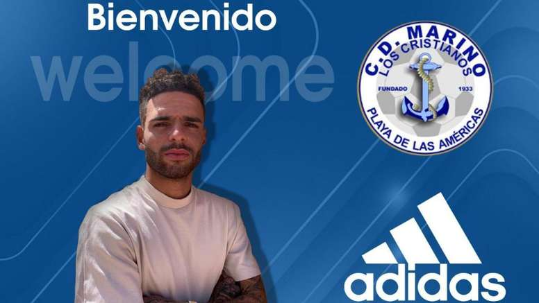 Borja Llarena defenderá los colores del CD Marino este curso. Twitter/CDMarinoOficial