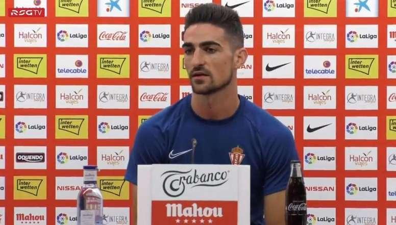 Borja López mira la temporada de forma optimista. SportingGijón
