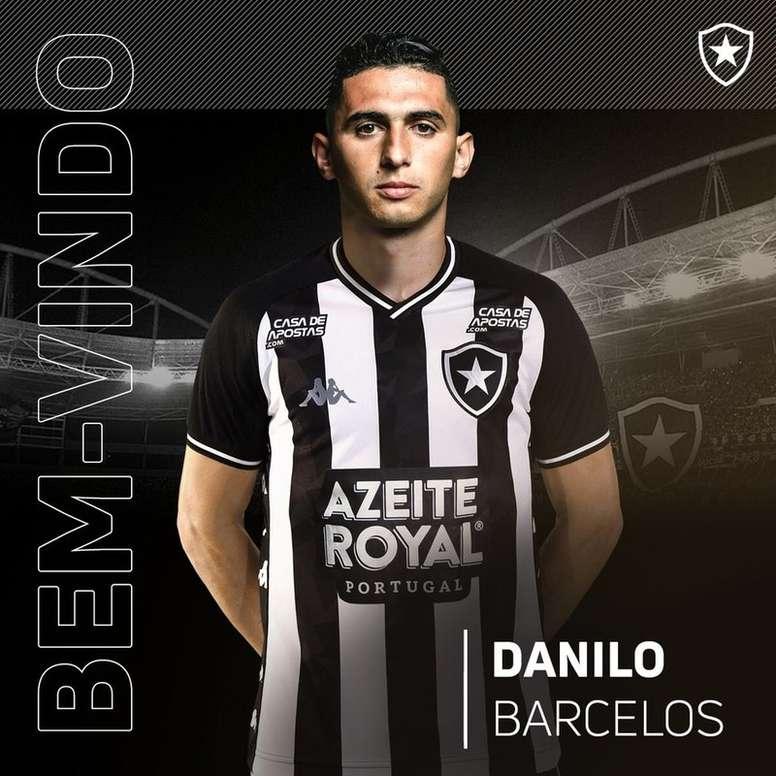 Botafogo anuncia a contratação de Danilo Barcelos. Twitter @Botafogo