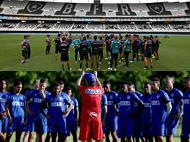 Botafogo e Bahia se enfrentam pela 30ª rodada do Campeonato Brasileiro. Collage/Twitter