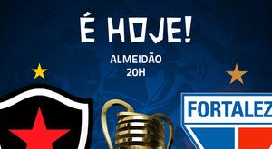 Prováveis escalações de Botafogo-PB e Fortaleza. Twitter @CopaDoNordeste
