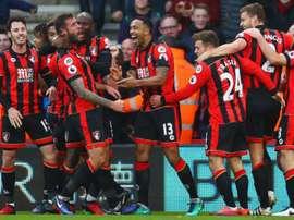 El Bournemouth sólo pudo llevarse un punto en casa ante el Watford. AFP