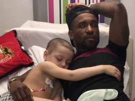 Jermaine and Bradley pictured in hospital/ Twitter/Bradleysfight