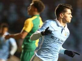 Brahim Díaz ya sabe lo que es debutar con los 'citizens' en Champions y Premier. ManchesterCity