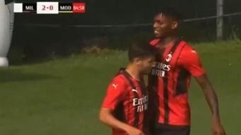 El Milan goleó al Modena. Captura/MilanTV