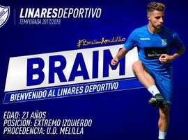 Braim, nuevo jugador del Linares. LinaresDeportivo