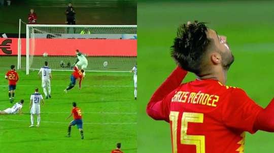 Brais anotó el único tanto del partido. Captura/TVE