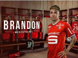 Le Stade Rennais a enregistré ce lundi l'arrivée de Brandon. StadeRennaisFC