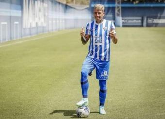 El Málaga presentó a Brandon Thomas. Twitter/MalagaCF
