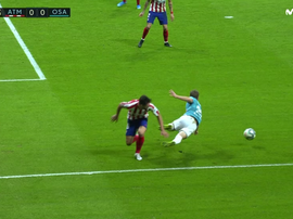 Osasuna felt they should have had a penalty. Captura/MovistarLaLiga