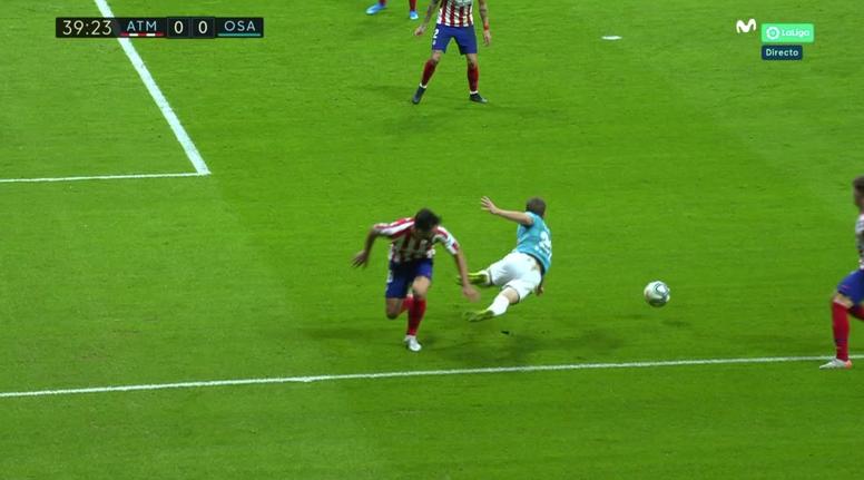 Osasuna felt they should have had a penalty. Captura/MovistarLaLiga