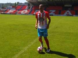 Brayan Perera, feliz de haber recalado en el Lugo. CDeportivoLugo