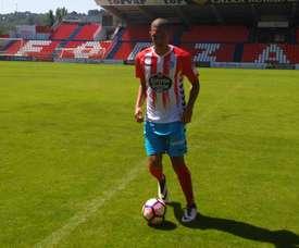 Brayan Perea ha vuelto a entrar en los planes de su entrenador en el Lugo. CDeportivoLugo